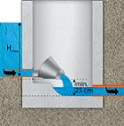 Rys. 6. Regulator stożkowy instalowany na półsucho