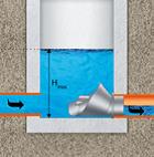 Rys. 8. Regulator stożkowy instalowany na mokro