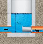 Rys. 9. Regulator korytkowy instalowany na mokro