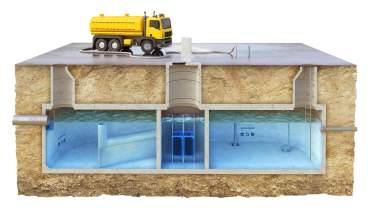 RYS.4b Przekroje zbiornikow podczyszczajacych umozliwiajacych wykorzystanie wody do roznych celow komunalnych